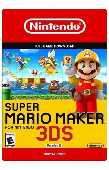 Super Mario Maker 3ds Nintendo Versão Digital Código Eshop