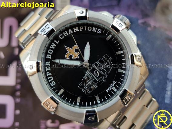 Relógio Masculino Fóssil Super Bowl Champions