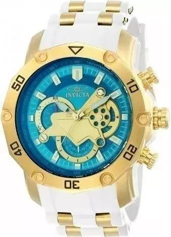 Relógio Ddr5874 Invicta 23423 Original Pro Diver Branco Top