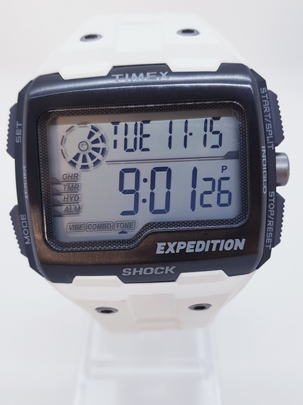 Relógio Masculino Digital Timex Expedition Puls. Silicone