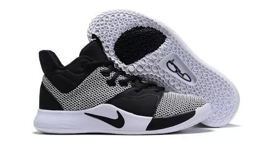 Tenis Nike Pg3 Basketball Hombre Original Negro Blanco