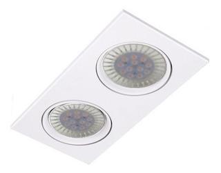 Spot Embutir Ar111 Cardanico 2 Luces Blanco Lamp Led 24w