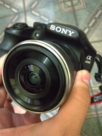 Sony A3000 Mirrorless + Lente Fe 30mm Macro 1:1