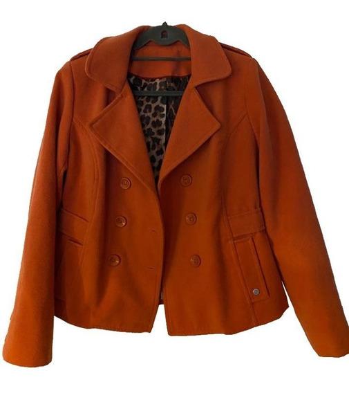 Saco Tapado De Abrigo Corto Color Naranja Pastel Zhoue