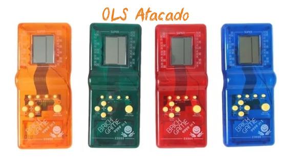 Kit 10 Mini Game Brick Game Brinquedo Portátil 9999 In 1