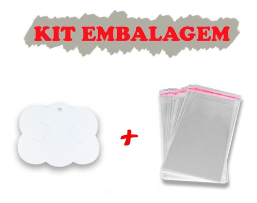 Kit Embalagem Para Laços, 200 Nuvem + 200 Saquinhos Adesivo