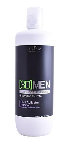 Shampoo Men 3d  Anticaida Schwarzkopf Pa - mL a $60
