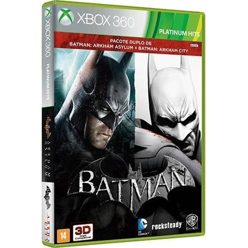 Batman Arkham Asylum + City - Midia Fisica Lacrado Xbox 360