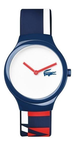 Relógio Silicone Azul Lacoste Original