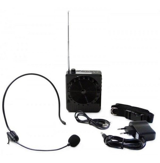 Kit Professor Microfone Amplificado Caixa De Som