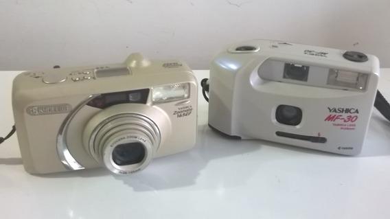 Câmera Yashica Kyocera Lote Com 2 Un Analógicas