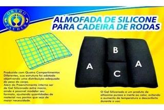 Almofada De Silicone Para Cadeira De Rodas 40x40