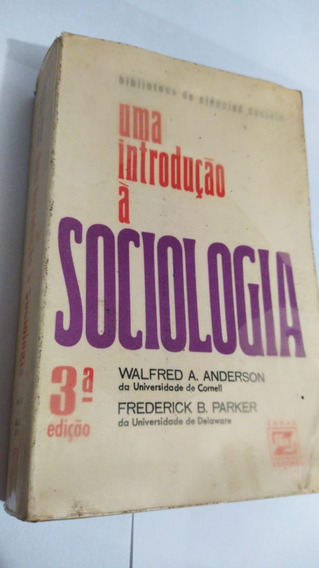 * Uma Introdução A Sociologia - Walfred Anderson Livro
