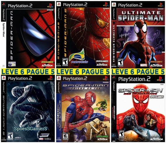 Homem Aranha - Spider-man Ps2 Coleção (6 Dvds ) Patch