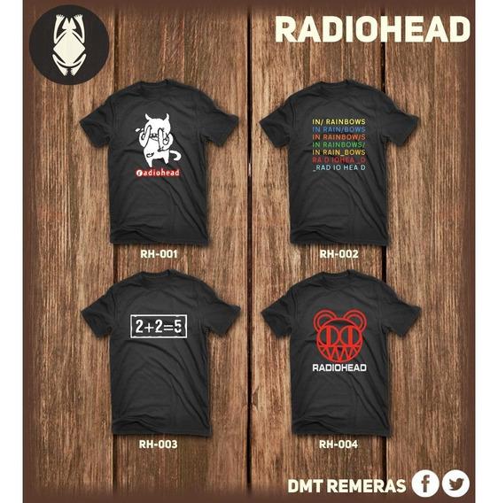 Remeras Radiohead - Estampadas Con Vinilo Importado