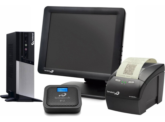 Kit Pdv Bematech Mp4200 + Monitor Touch + Cpu Rc-8400