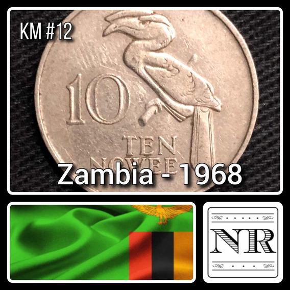 Zambia - 10 Ngwee - Año 1968 - Km # 12 - Pajaro