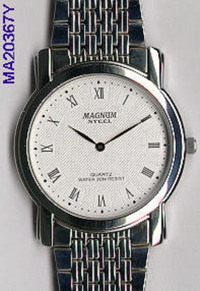 Relógio Magnum Masculino Slim Ma20367y Analogico Oferta