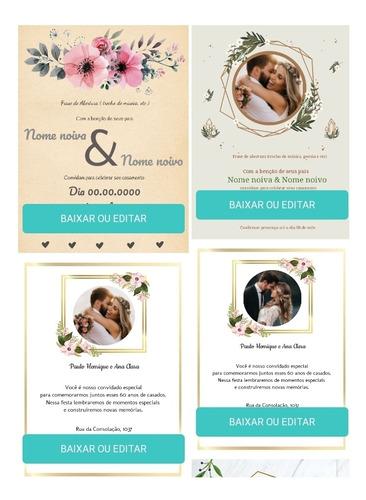 Convites De Casamento Digitais Personalizados