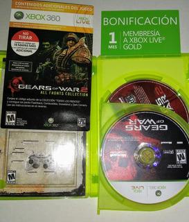 Juego Original Xbox 360 Gears Of War Pack Triple