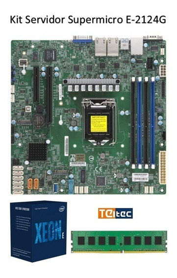 Kit Servidor Xeon E2124-g + 16gb + Cooler