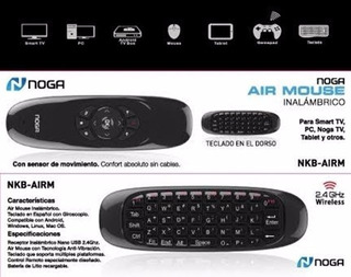 Air Mouse Teclado Control Remoto + Puntero Smart Tv Noga