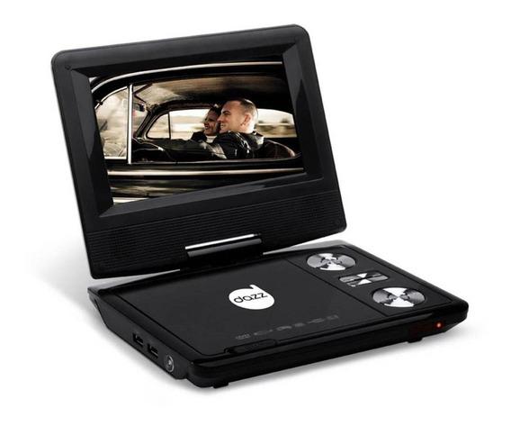 Dvd Player Portã¡til 7 Dazz Dz-65130 - Reproduz Dvd, Cd, Mp