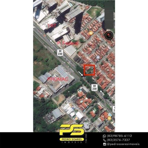 Imagem 1 de 1 de Terreno À Venda, 336 M² Por R$ 450.000 - Conjunto Joao Agripino - João Pessoa/pb - Te0255