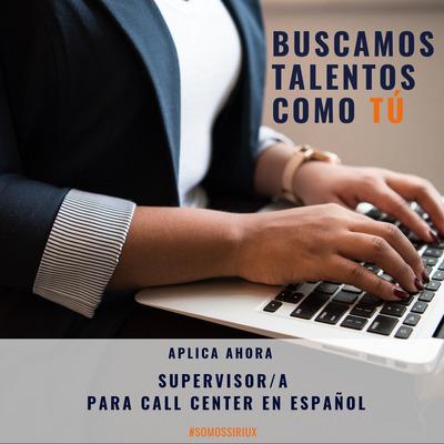 Oferta De Empleo Supervisor/a Para Call Center