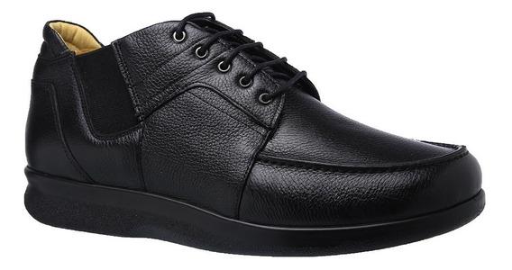 Sapato Masculino Especial Neuroma De Morton Em Couro Floater