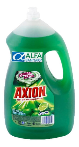 Detergente Para Trastes Axion Liquido Limón De 2.8 Lts