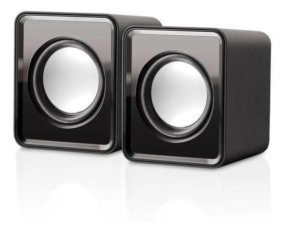 Caixa De Som 2.0 Mini 3w Rms Preto Sp151