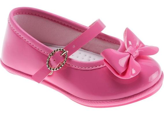 Sapato Social Bebê Pimpolho Com Laço Rosa 16 E 17
