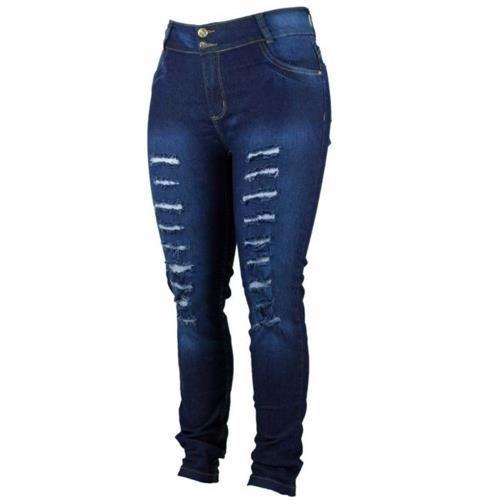 Kit 2 Calças Jeans Feminina Rasgada Até 54 Preço Promocional
