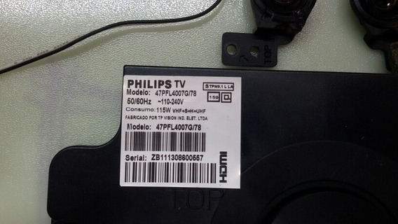 Altos Falantes Da Tv Philips 47pfl4007g/78 ( Kit Om 3 Un).
