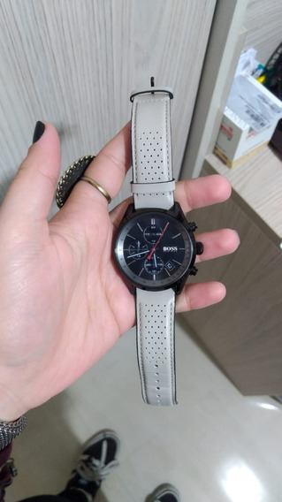 Relógio Hugo Boss Masculino Couro Bege