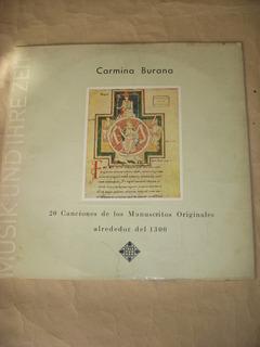 Vinilo.carmina Burana.20 Canciones.manuscritos Originales/*.