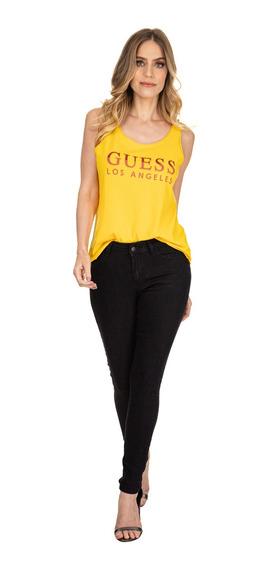 Calça Jeans Mid Rise Skinny Guess 40376