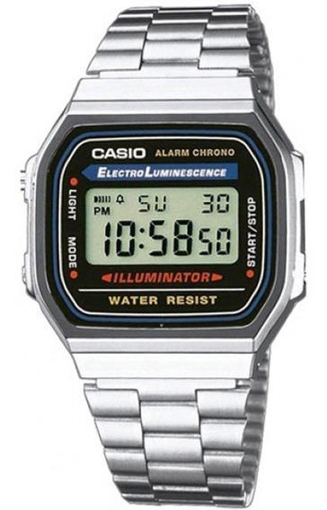 Relógio Casio Original Unissex A168wa-1wdf Prata Oferta