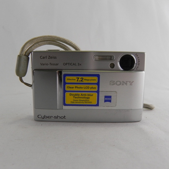 Câmera Digital Sony Cyber-shot Dsc-t10 7.2 Mpx Zoom 3x