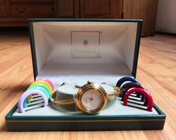 Reloj Gucci Clasico Modelo Aros Intercambiables Original