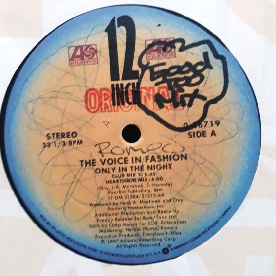 Voice In Fashion Only In The Night 12 Usa Imp 1987 Freestyle