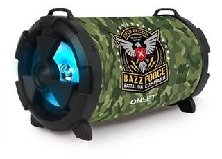 Parlante Portatil Onset Bazz Force Bluetooth 2x5w Usb Sd Fm