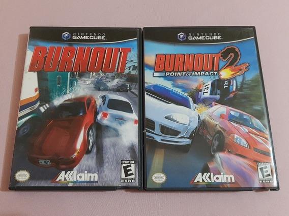Burnout + Burnout 2 Game Cube Originais Americanos Na Caixa!