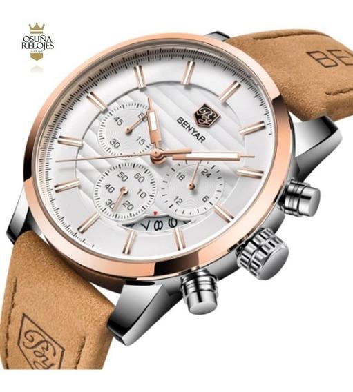 Relógio Masculino Social Benyar-5104 Original 100% Funcional