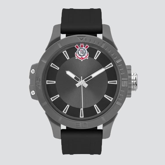 Relógio Technos Corinthians Preto E Chumbo