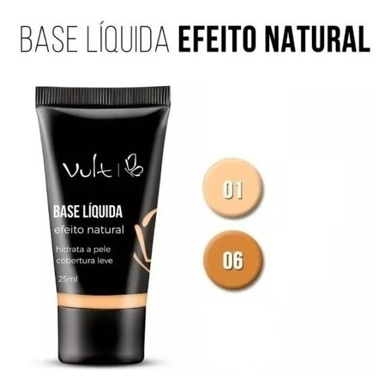 Base Liquida Vult 1 Unid + Pó Compacto Vult Cores 1 Uni