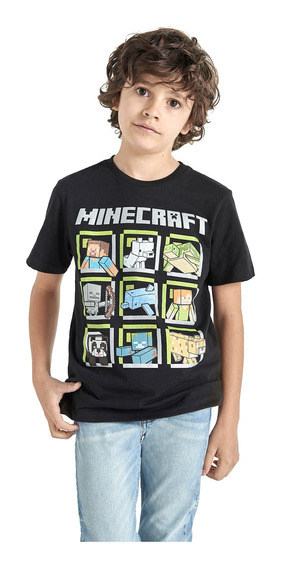 Playera Manga Corta Minecraft De Niño C&a (3006532)