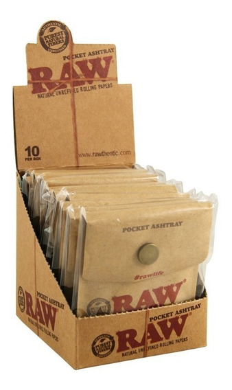 Raw Pocket Ashtray Caixa Com 10 Portatabaco - Pronta Entrega