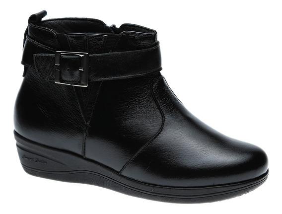 Bota Feminina Em Couro Roma Preto 154 Doctor Shoes